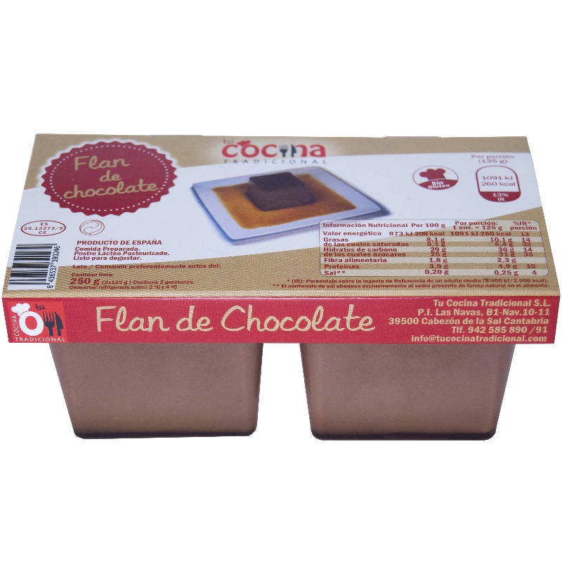 FLAN DE CHOCOLATE Pack de 2×125 g