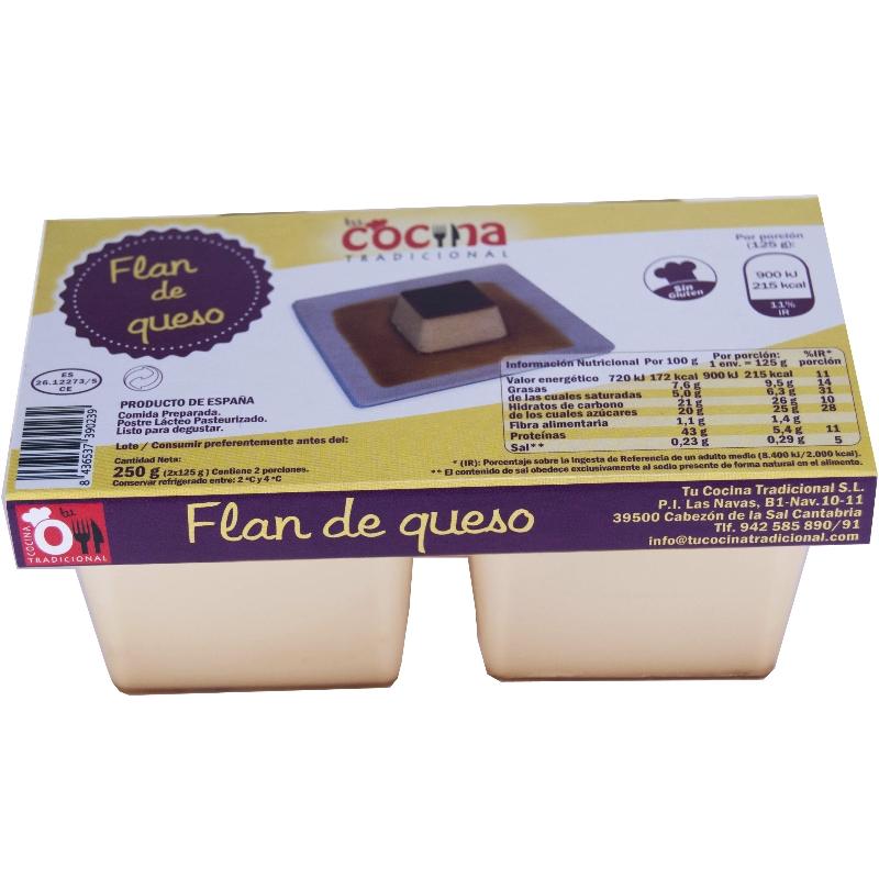 FLAN DE QUESO Pack de 2×125 g