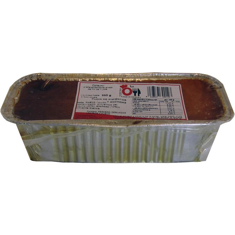 PUDIN DE PIMIENTOS Y ANCHOAS 550 g