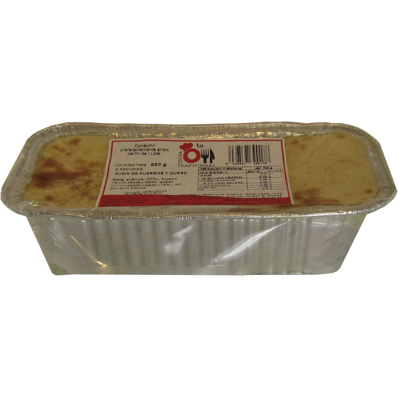 PUDIN DE PUERROS Y QUESO 550 g